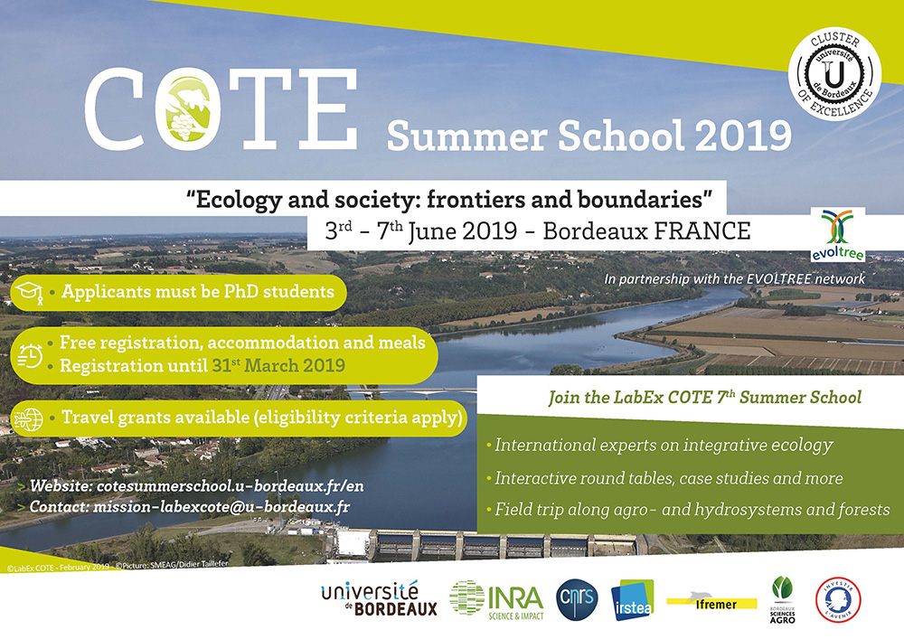 "Ecole d'été ""Ecology and society : Frontiers and Boundaries"""